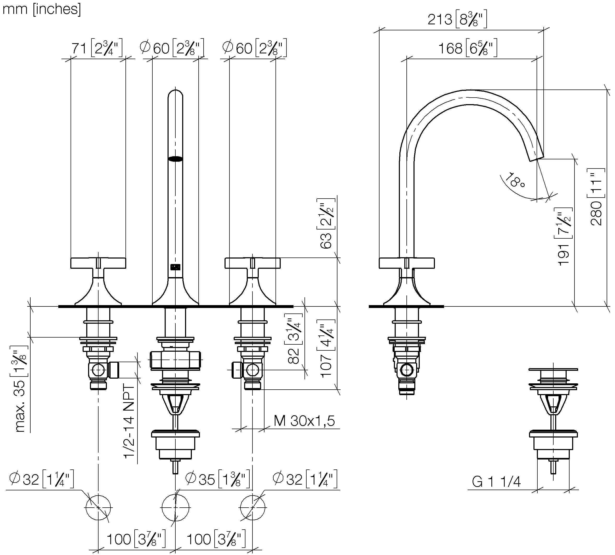 HSS-E Right Hand Cut 8-32 WIDIA GTDVTSFT5024 VariTap VTSFT50 Multipurpose Tap Semi Bottom Chamfer TiCN Coating WIDIA Products Group 5357379 3 Flutes